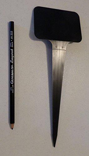 10 Qty 10&quot X 3 12&quot Easy Read Tilt Heavy Duty Black Plastic Plant Stake Labels Inch Ez