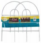 Panacea 89317 Arch Folding Fence White