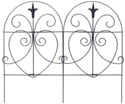 Panacea 89379 Romantic Folding Border Fence Black