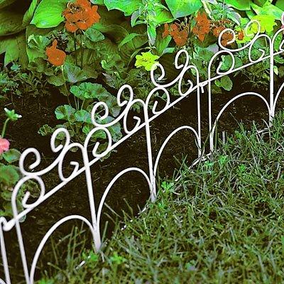 Panacea Decorative Folding Fence White 14H Pack of 10