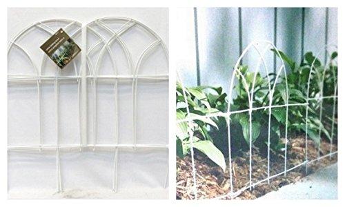 "Home Depot White Metal Folding Garden Fence 18"" Tall X 10' Wide"