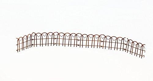 Wire Rusty Folding Garden Fence - Set Of 3