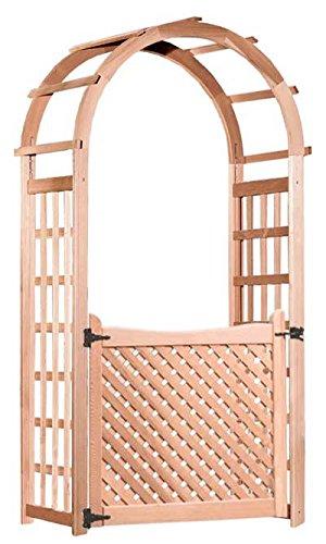 Arboria Glendale Cedar Arbor with Gate