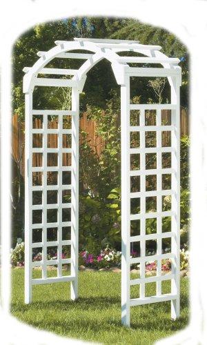 Greenstone Arch Arbor White