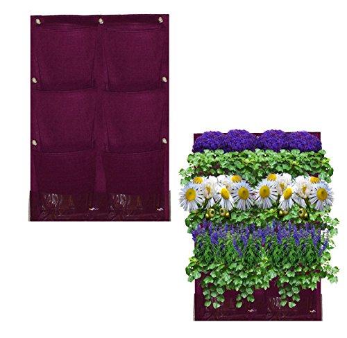 6 Pocket Vertical Garden Planter By Invigorated Living Waterproof Garden Pots For Indooramp Outdoor Use On Patios