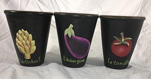 Zucchini and Vine - Vegetable Decorative Planting Pots-Set of 3