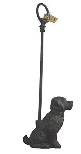 LuLu Decor Cast Iron Decorative Dog Door Stopper with Rod Door Stop with Rod