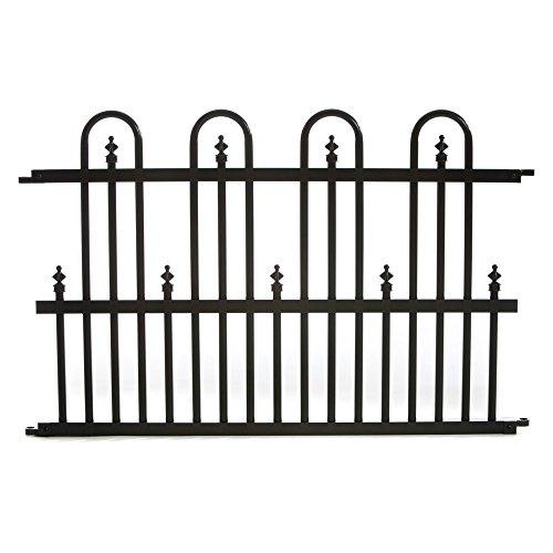 Specrail Roxbury Roxbury24sp Aluminum Garden Fence Standard Panel 24 By 36-inch Black