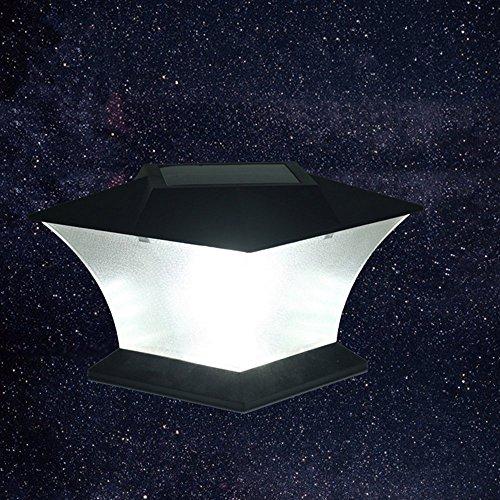 Solar Powered LED Post Cap LightOutdoor Garden 54 x 54 18 LED Post Deck Cap Square Fence Light Landscape Lamp White