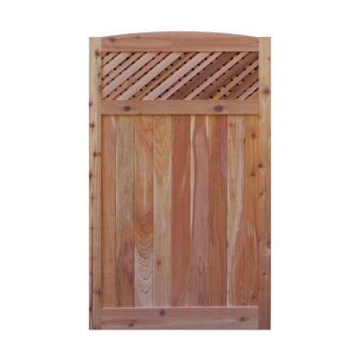 Signature Development 35 ft H W x 6 ft H H Western Red Cedar Arch Top Supreme Lattice Fence Gate