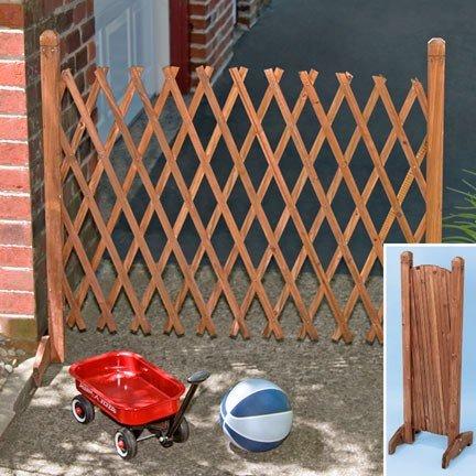 Wooden Lattice Expandable Fence