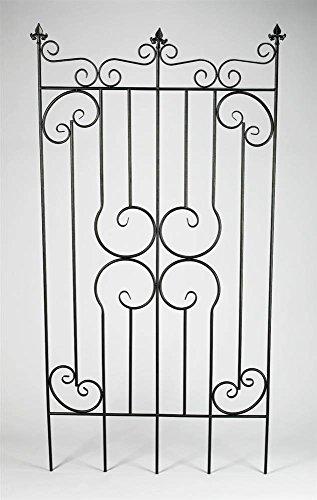 AA Importing Decorative Metal Garden Fence Gate in Dark Gray Finish