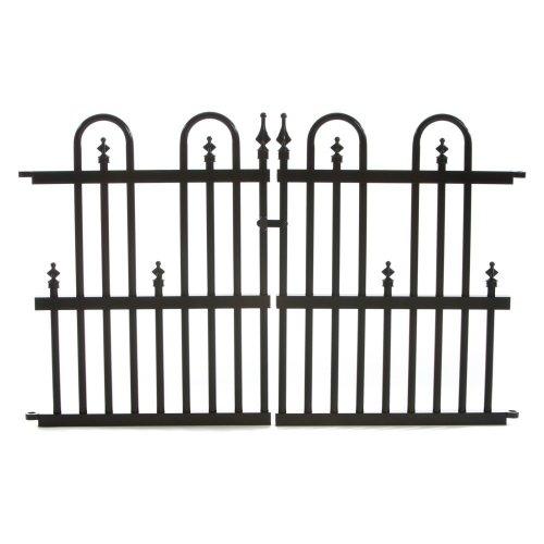 Specrail Roxbury ROXBURY24G Aluminum Garden Fence Gate Panel 24 by 36-Inch Black