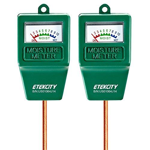 Etekcity Indoor Outdoor Plant Soil Moisture Sensor Meterwater Monitor Hydrometer For Gardeningfarming 2 Pack