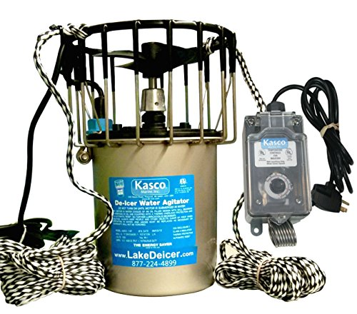 Kasco Marine Lakeamp Pond De-icer 1hp - 120v Deicer 25ft Power Cordamp Ropes C-10 Timer Thermostat Controller