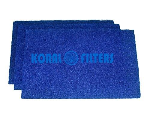 Koi Pond Filter Rigid Pad Media - 3 pack 125 x 125