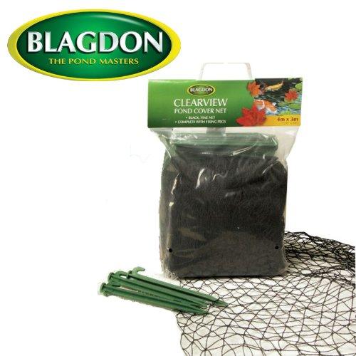 4x 3m Black Fine Pond Cover Net