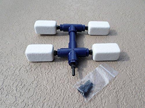 Koi Pond Aerator / Aquaponics / Hydroponics {synergistic Diffuser Manifold; Model# Adm-0403} - Deicer - Airlift