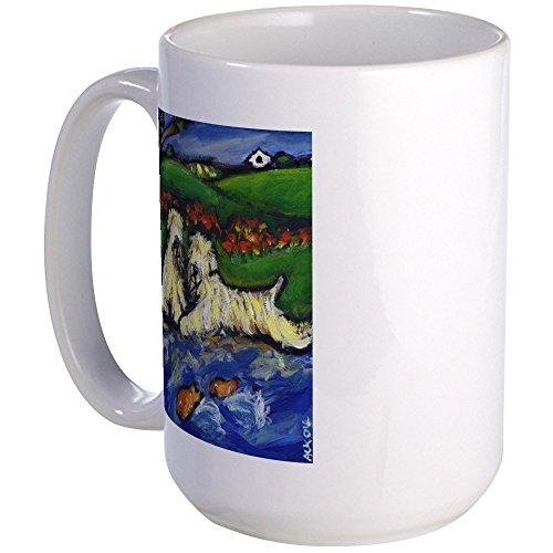CafePress WHEATEN By Goldfish Pond Large Mug Coffee Mug Large 15 oz White Coffee Cup