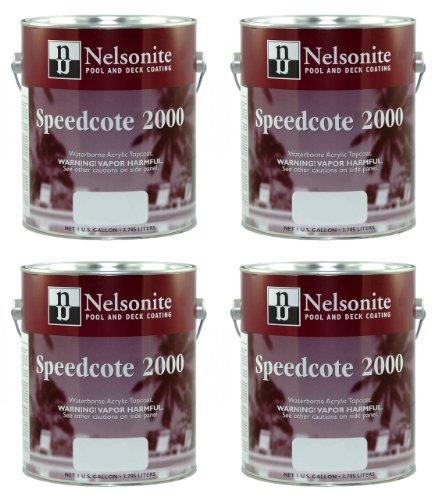 Swimming Pool Paint Speedcote 2000 4 Gallons Lake Blue 43-404 - 4PACK