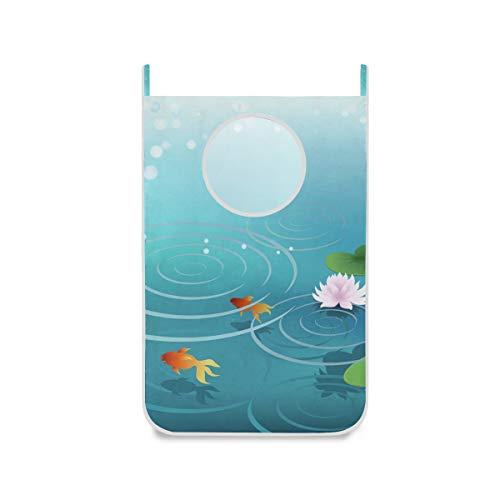 XiangHeFu Foldable Storage Basket Large Pond Water Goldfish Door-Hanging Laundry Hamper Cloth Bag