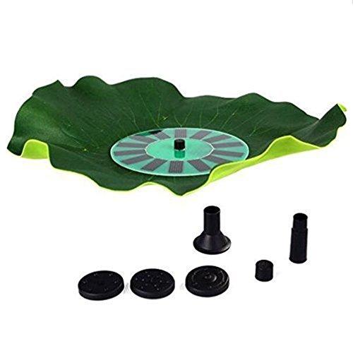 Ebotrade Green Lotus Leaf 14w Solar Powered Water Floating Pump Garden Pool Pond Fountain 150lh
