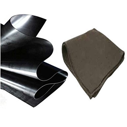 Anjon 35 ft x 90 ft 20 mil HDPE Pond Liner and Underlayment Combo for Koi Ponds and Commercial Lakes