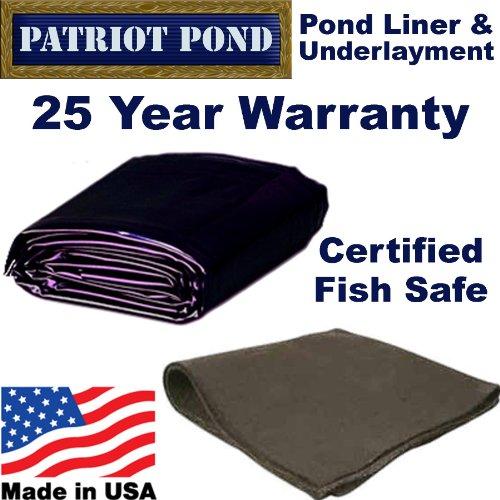 20 x 40 45 mil EDPM Patriot Pond Liner Underlayment Combo