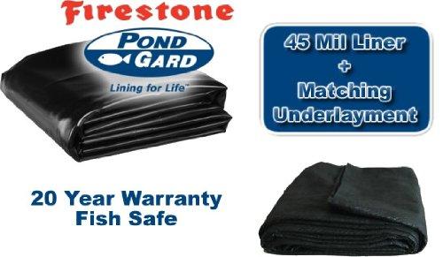 15 X 25 Firestone 45mil Epdm Pond Liner & Matching Underlayment Kit