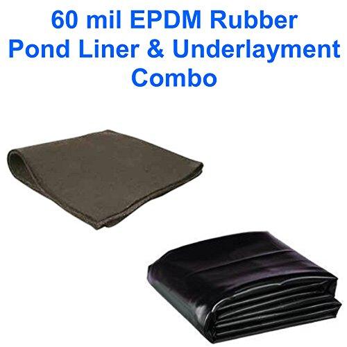 15 X 50 Patriot 60 Mil Epdm Pond Lineramp Underlayment Combo