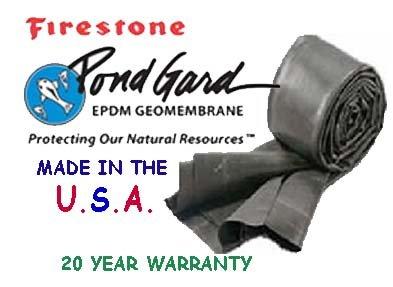 10 X 10 Firestone 45 Mil Epdm Pond Liner