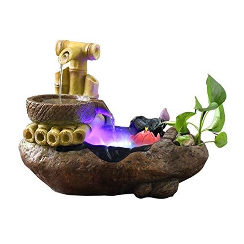 LEZDPP Indoor Fountain Desktop Landscape Landscape Fish Pond Landscaping Atomization Humidifier Home Decoration Ornaments Color  B