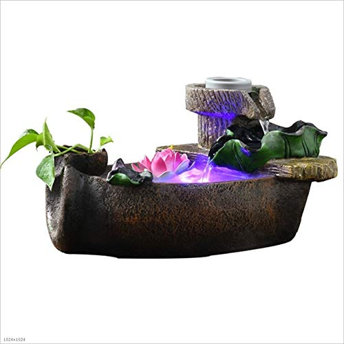 LF stores Tabletop Fountains Creative Home Resin Water Fountain Desktop Landscape Landscape Pond Landscaping Atomization Humidifier Decoration Indoor Fountains Size  A