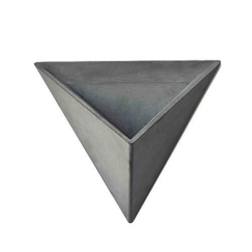 Flowerpot Silicone Concrete Mold Triangular Polyhedron Handmade Cement Planter Mould