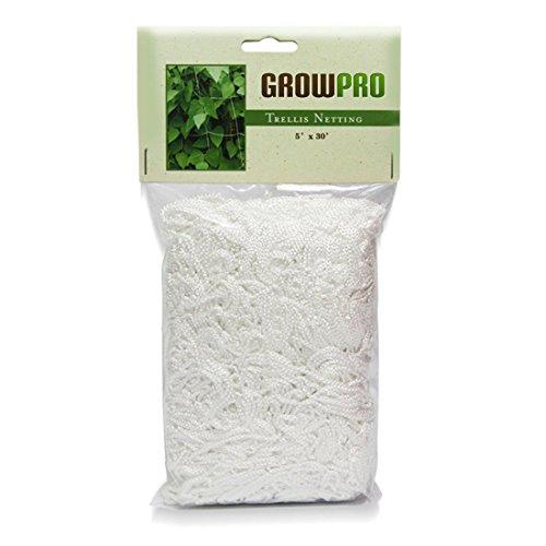 Grow Pro Heavy-duty White Vertical Garden Trellis Mesh Netting 5 Feet X 30 Feet