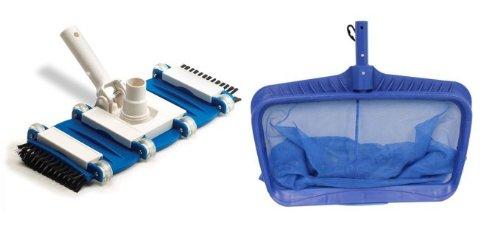 Hydrotools 8040 Deep Bag Leaf Rake Swimming Pool Net  8165 Flexible Vacuum Head