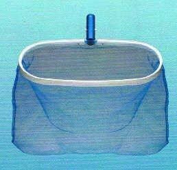 New 125010b Aluminum Deep Mesh Bag Leaf Rake Skimmer Net For Swimming Pool