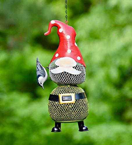 Plow Hearth Norbert The Gnome Metal Mesh Bird Feeder