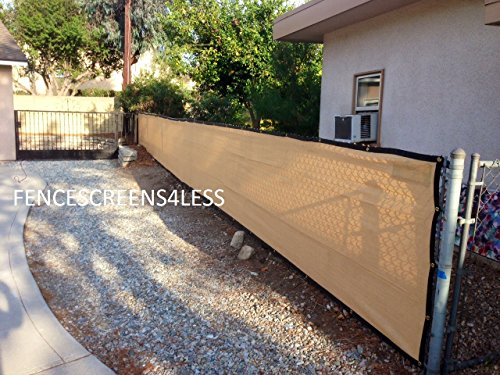 6ft X 50ft Golden Tan Privacy Fence Screen Shade Cloth 85 Blockage