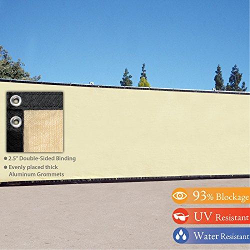4 X 50 3rd Gen Tan Beige Fence Privacy Screen Windscreen Shade Fabric Mesh Tarp aluminum Grommets