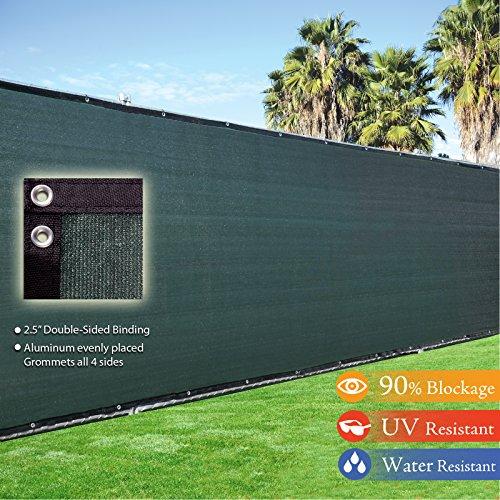 Fence4ever 5 X 50 3rd Gen Olive Dark Green Fence Privacy Screen Windscreen Shade Fabric Mesh Tarp aluminum