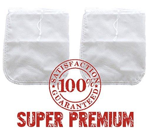 2 Pack Bright Kitchen PREMIUM Nut Milk Bag - Super Fine Nylon Mesh Almond Mylk Strainer
