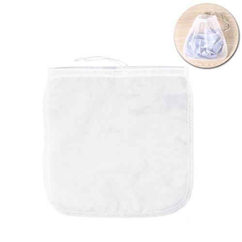 OUNONA 200μm Nut Milk Bag Reusable Fine Nylon Mesh Food Strainer Cheese Maker 12cm
