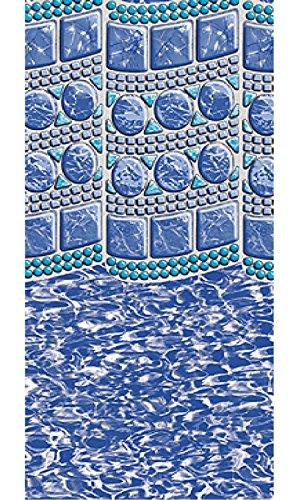 18x33 Oval Overlap Swirl Tile Above Ground Swimming Pool Liner-25 Gauge