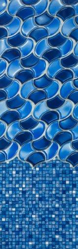 Waves of Poseidon 25 Gauge Oval Swimming Pool Liners with Universal Gasket Set 12 X 24 Oval