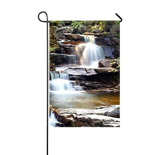 MJG Garden Flag Waterfall Cascade Rocks Nature 12x18 InchesWithout Flagpole