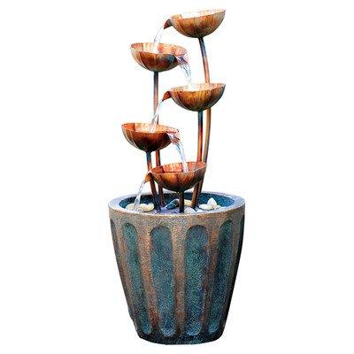 Design Toscano Copper Falls Cascading Garden Fountain