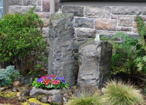 Double Cascade Fountain with Planter