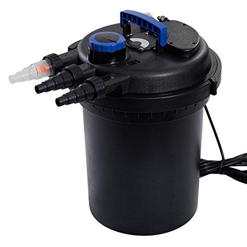 Goplus&reg Pond Pressure Bio Filter 4000gal W 13w Uv Sterilizer Light 10000l Koi Water