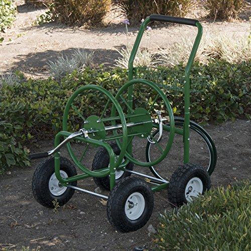 ARKSEN Water Hose Reel Cart 250 FT Outdoor Garden Heavy Duty Yard Water Planting Green